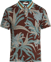 Valentino Tropical-print cotton-jersey polo shirt