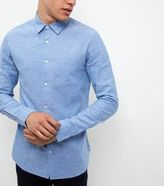 New Look Blue Line Mix Long Sleeve Shirt