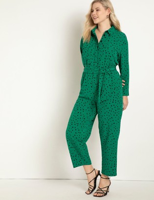 ELOQUII Printed Jumpsuit With Pockets