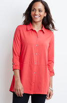 J. Jill Button-Front Knit Tunic