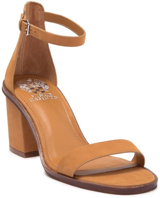 Vince Camuto Kreestey Leather Block Heel Sandal