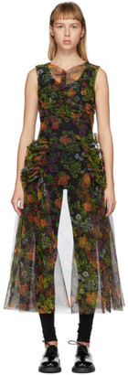 Molly Goddard Black and Multicolor Rosalia Dress