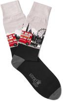 Corgi Intarsia Cotton-blend Socks - Black