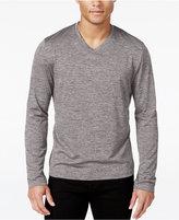 Alfani Men's Performance Long-Sleeve Shirt, V-neck