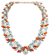 Leslie Danzis Peach & Blue Faux Pearl Collar Necklace