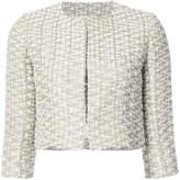 Oscar de la Renta cropped tweed jacket