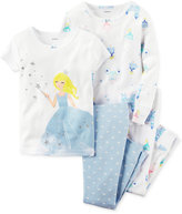 Carter's Baby Girls' 4-Pc. Princess Pajamas Set