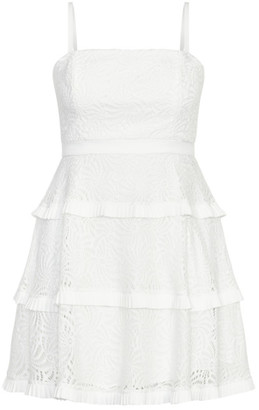 City Chic Angelic Lace Dress - ivory
