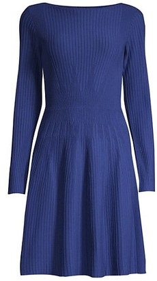 Emporio Armani Vertical Knit Long-Sleeve Dress