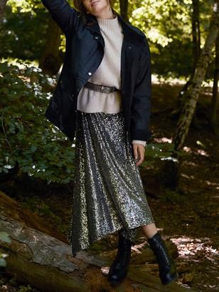 Mint Velvet Long Waxed Jacket, Black