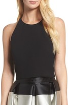 Eliza J Women's Cross Back Crepe Crop Top