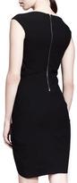 Helmut Lang HELMUT Asymmetric Ruched Crepe Dress