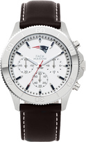 Jack Mason NFL Collection JMF-1019-NE New England Patriots Men's Leather Watch with Chronograph