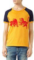 Gucci Tigers-Print Cotton T-Shirt