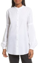 Robert Rodriguez Women's Puff Sleeve Cotton Poplin Shirt