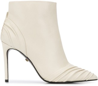 Grey Mer Ruched Ankle Boots