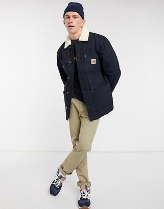 Carhartt WIP fairmount sherpa lined jacket in navy