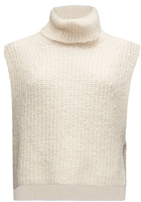 Etoile Isabel Marant Megan Roll-neck Cotton-blend Sleeveless Sweater - Ivory