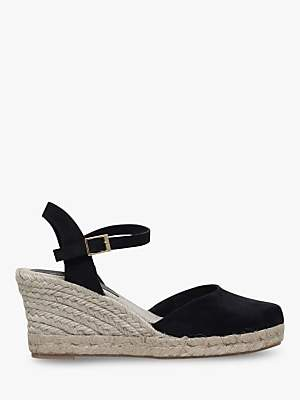 Carvela Sabrina 2 Wedge Heel Sandals, Black