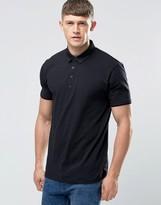 Asos Smart Polo Shirt With Woven Collar