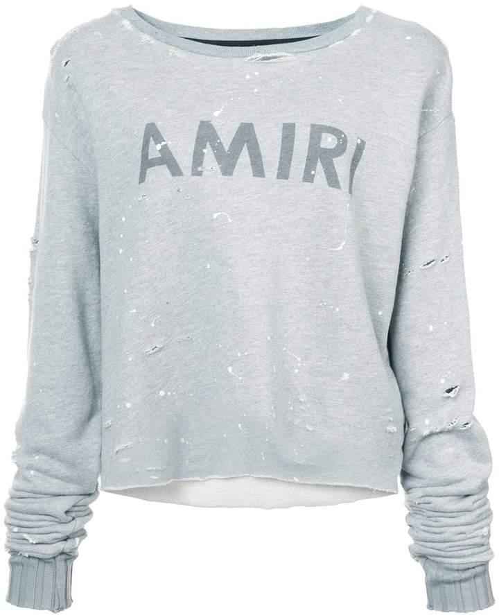 Amiri painted logo print sweatshirt