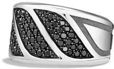 David Yurman Graphic Cable Band Ring with Black Diamonds