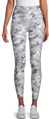 Wear It To Heart Striped & Camo Print Cropped Leggings