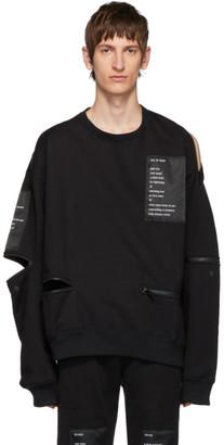 TAKAHIROMIYASHITA TheSoloist. Black Heavy Terry Back Zip Sweatshirt