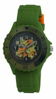 Tikkers Boys Khaki Green Rubber/Silicone Strap Camouflage Dial Watch TK0030