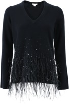 Michael Kors Ostrich Feather Pullover
