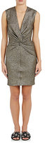 Lanvin Women's Knotted Silk-Blend Lamé Sheath Dress