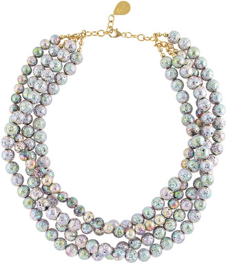 Devon Leigh Rainbow Lava 4-Row Necklace