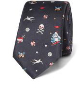 Valentino Tattoo Silk-Jacquard Tie
