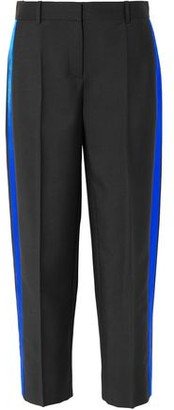 Givenchy Satin-trimmed Grain De Poudre Mohair And Wool-blend Straight-leg Pants
