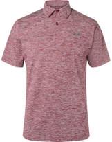 Under Armour Threadborne Slim-fit Stretch-jersey Golf Polo Shirt - Burgundy