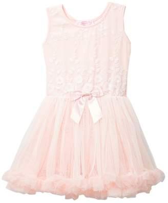 Popatu Floral Bodice Tulle Dress (Little Girls)