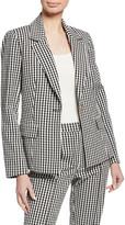 Tanya Taylor Alejandra Gingham Single-Button Jacket