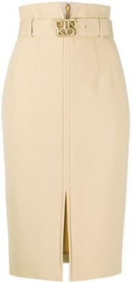 Pinko Buckle Slit Pencil Skirt