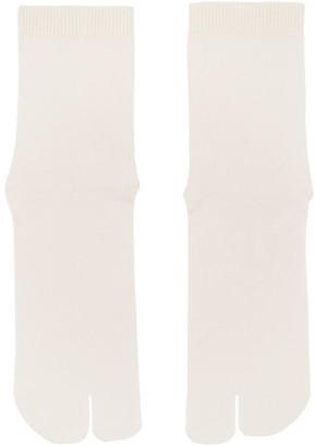 Maison Margiela Off-White Tabi Socks
