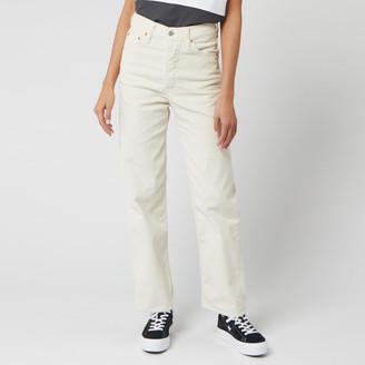 Levi's Women's Ribcage Straight Ankle Corduroy Jeans