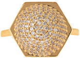 Rachel Zoe Sophia Pave Sphere Ring - Size 7