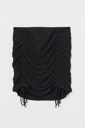 H&M Draped mesh skirt