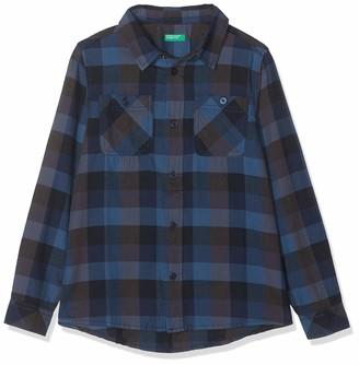 Benetton Boy's Indigo B3 Casual Shirt