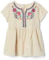 Gap Embroidery split-neckline top