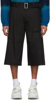 Palm Angels Black Side Tape Shorts