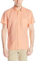 HUGO BOSS BOSS Orange Men's Ezippoe Garment-Dyed Short-Sleeve Shirt