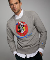 Looney Tunes Todd Snyder + Champion Champion + Gang Reverse Weave Crew in Light Grey Mix