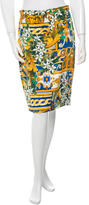 Dolce & Gabbana Silk Floral Print Skirt