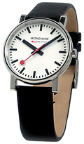 Mondaine Unisex Evo Leather Strap Watch
