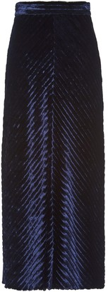 Prada Ribbed Velvet Straight Skirt
